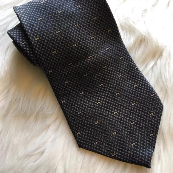 Palatina Other - Palatina Gray Polka Dot Men's Silk Tie